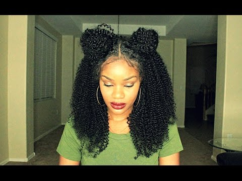 Space Buns Using A Lace Wig W/ NO LEAVE OUT!!!