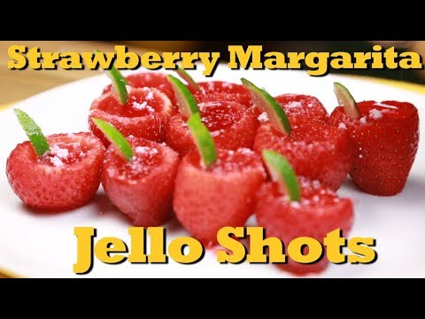 How To Make Strawberry Margarita Jello Shots Drinks Made Easy Youtube