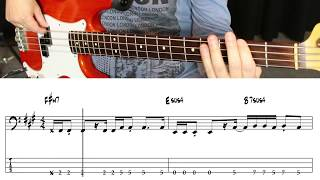 Oasis - Wonderwall (Bassline Step by Step)
