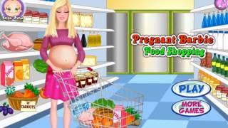 Игра про беременную Барби, которая ходит по магазинам и готовит еду!