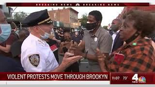 Fireworks, Trash Fires Erupt When Brooklyn Protests Turn Violent | NBC New York
