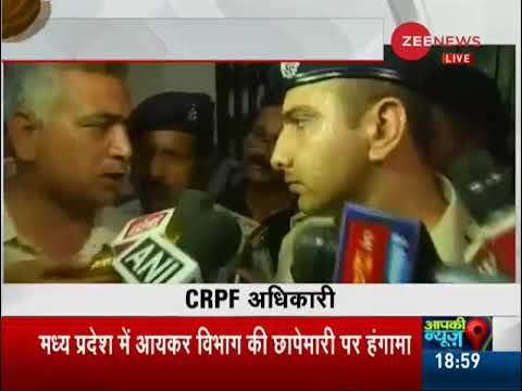 Breaking News: CRPF, Police clash during Bhopal I-T raids