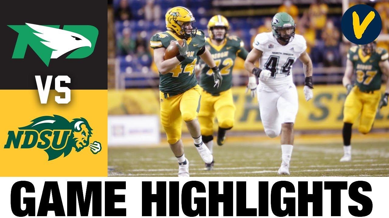 #2 North Dakota vs #4 North Dakota State Highlights | FCS 2021 Spring College Football Highlights