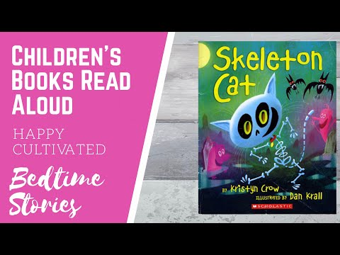 Skeleton Cat Book Read Aloud   Spooky Kids Stories   Halloween Stories for Kids
