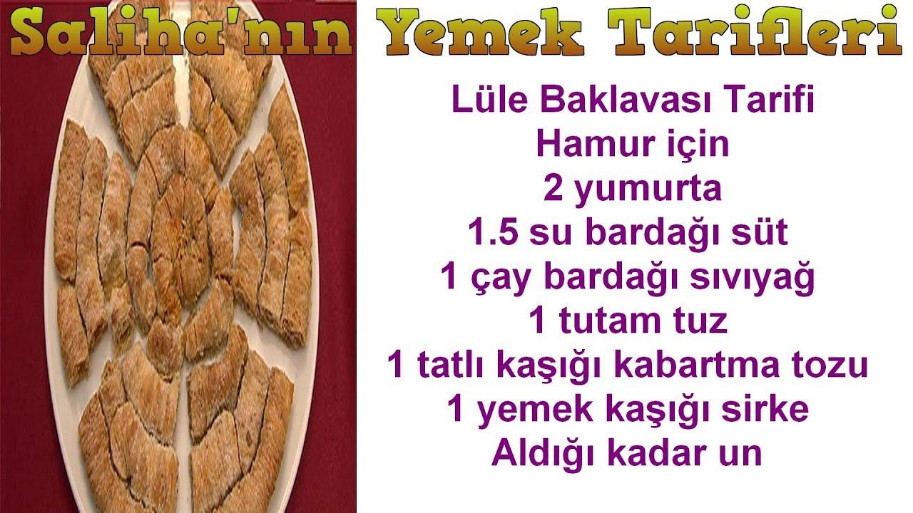 Lüle Baklava Tarifi