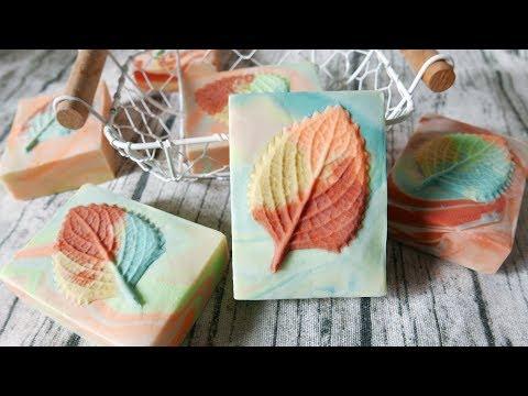 樹葉轉印皂DIY - bas-relief handmade soap with local plants - 手工皂