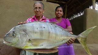 Big Fish Recipe ❤ Creamy Fish Curry prepared by Grandma and Daughter   Village Life