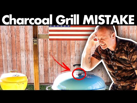 Charcoal Grill / Kettle - Biggest Beginners Mistake #charcoalgrill #beginnersmistake #bbq #doNOTdoit
