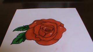 Как рисовать розу! Рисуем розу поэтапно. How to Draw a Rose