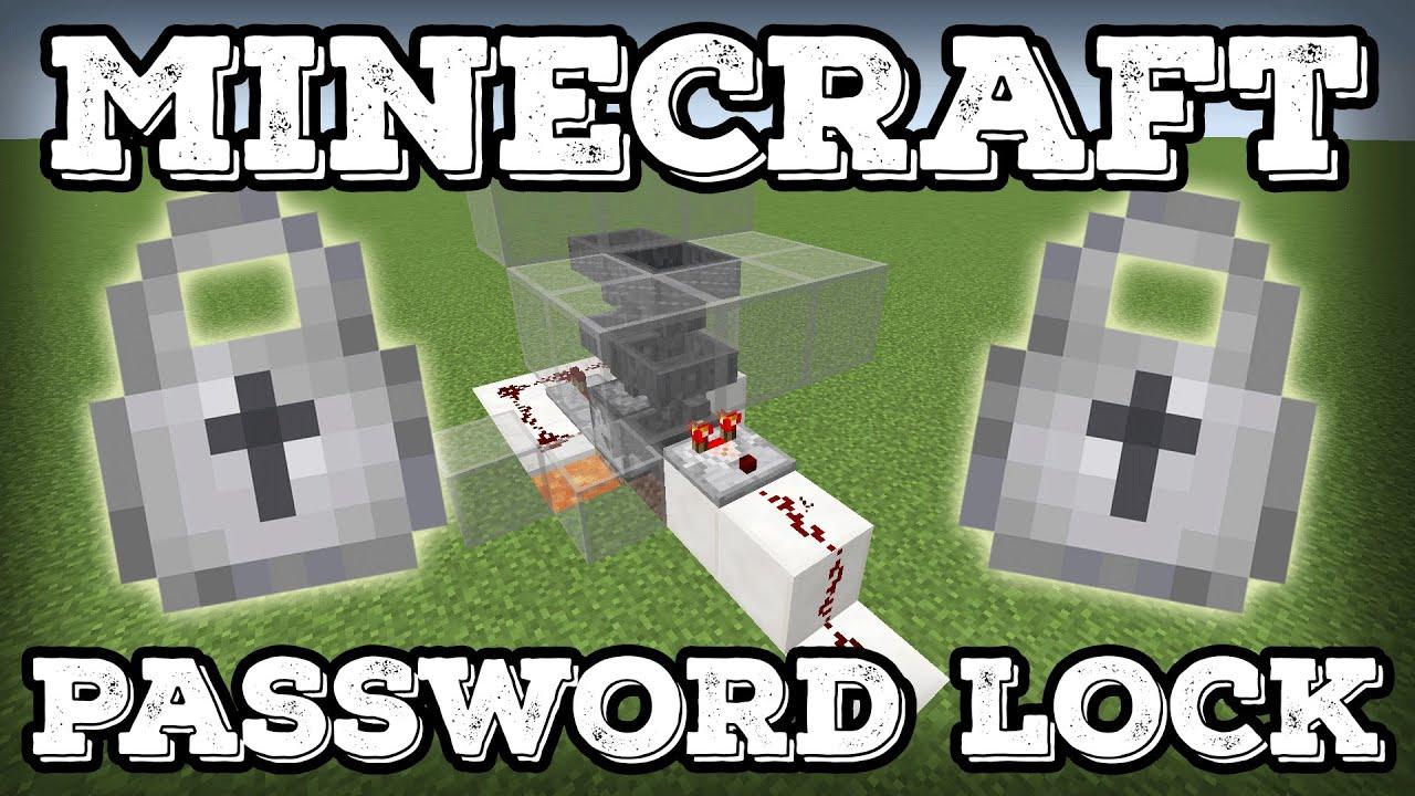 Minecraft Tutorial - Word Password Lock - Most Secure Lock in ...