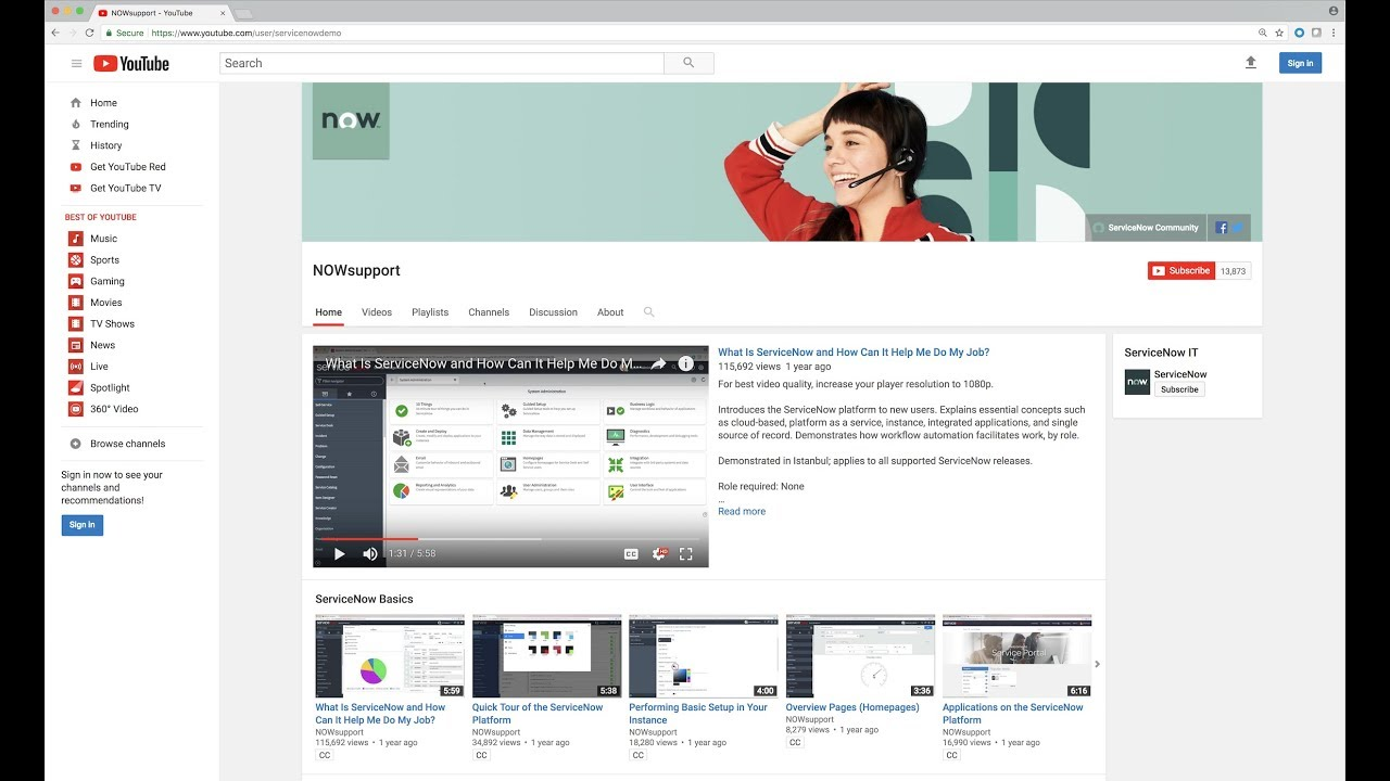 ServiceNow Support Channel Trailer