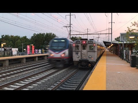 Amtrak & NJ Transit High Speed Northeast Corridor Trains @ Princeton Junction (9/5/19)