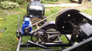 Running Generator With Wood Gas, Gasifier, Lawn Tractor.