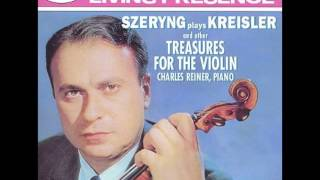 Henryk Szeryng plays Kreisler and other treasures for the violin