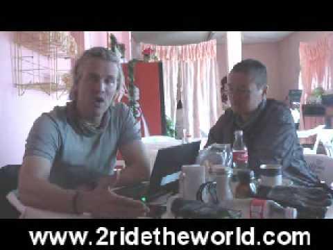 Brainrotting EXTRAS: 2ridetheworld.com Simon & Lisa Thomas BMW GS motorcycle adventure
