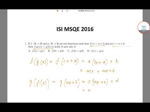 ISI MSQE 2016 PAST YEAR SOLVE QN 1 ,COMPLETE SOLUTION,ONLINE CLASSES 9836793076
