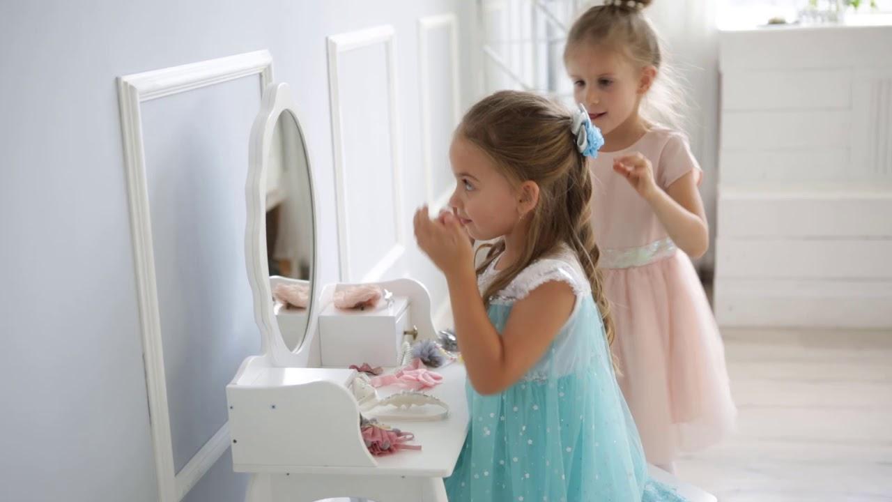 Туалетный столик для девочек SunnyWoods Эльза - YouTube