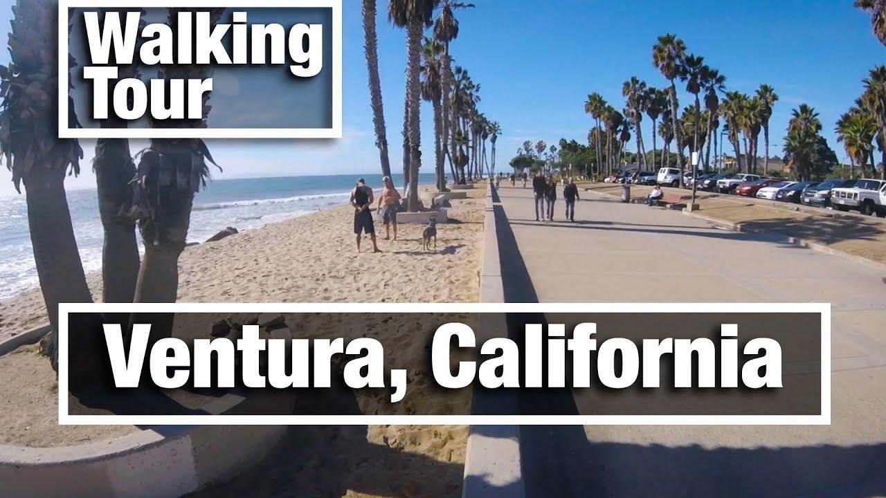 City Walks: Ventura, California virtual treadmill beach walking tour