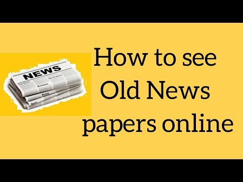How to find old news papers online........