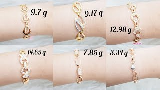 Latest Gold Bracelet Design with Weight