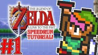 Zelda A Link to the Past Speedrun Tutorial Part 1 - TFS Plays