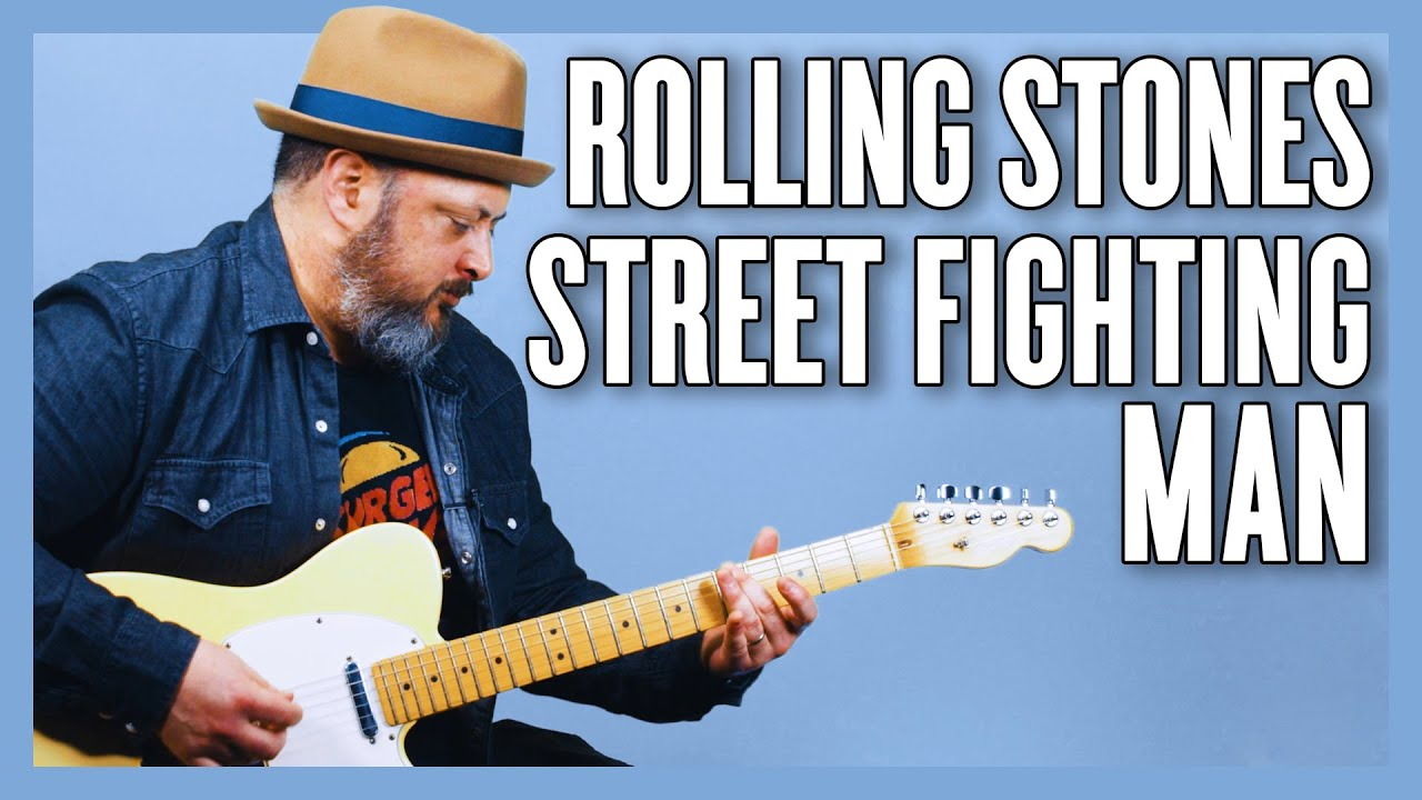 The Rolling Stones Street Fighting Man Guitar Lesson + Tutorial