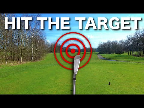 How to aim the golf club & hit STRAIGHT shots