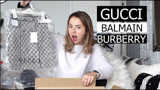 I bought $1700 worth of KIDS DESIGNER CLOTHES (Gucci, Burberry, Balmain)