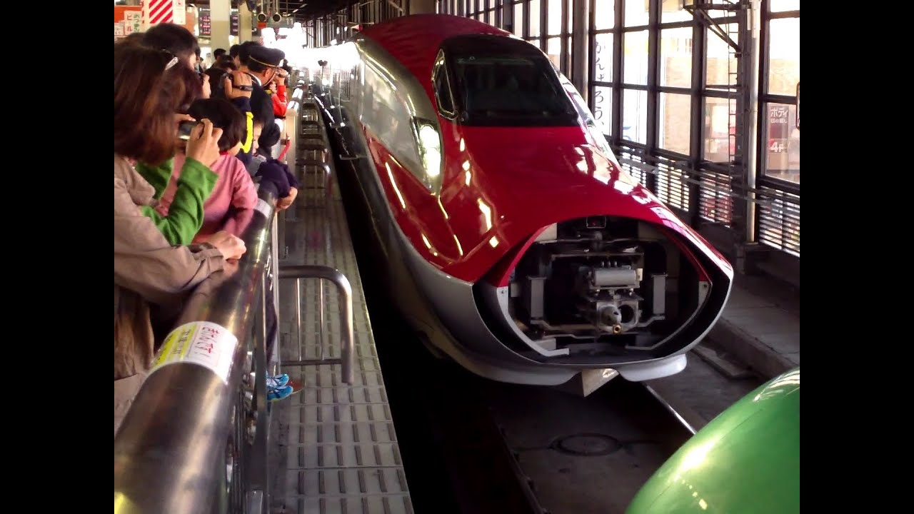 Watch The Hayabusa And Super Komachi Shinkansens Get Connected For A  Combined Run   YouTube