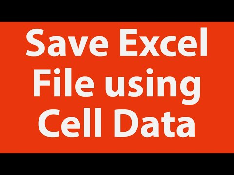 Save Excel file using data from cells & single click