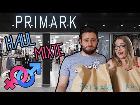 HAUL PRIMARK MIXTE: Big craquage shopping en duo, y'en a pas QUE pour les filles !! - Euralille