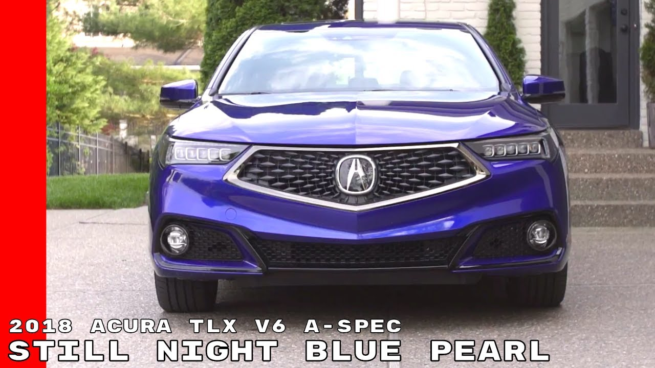 2018 acura colors. contemporary colors 2018 acura tlx v6 aspec  still night blue pearl color in acura colors n