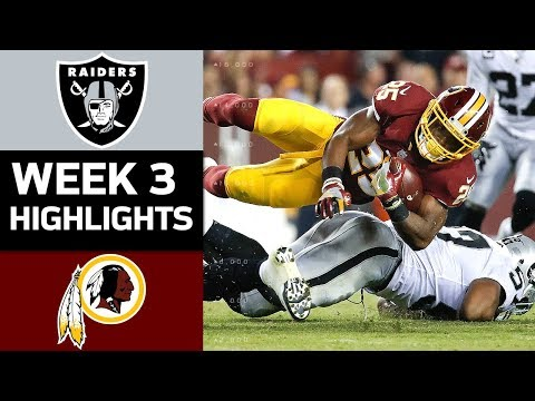 Raiders vs. Redskins | NFL Week 3 Game Highlights