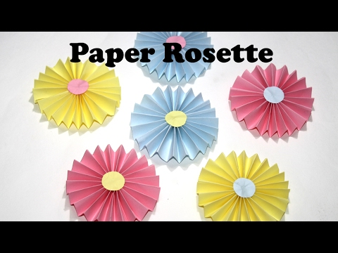 DIY Paper Crafts | How to make EASY Paper Rosettes | DIY Paper Decorations