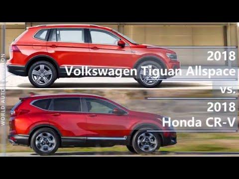 2018 Volkswagen Tiguan Allspace vs 2018 Honda CR-V (technical comparison)