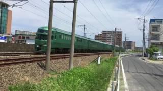 臨時運行 特急ゆふいんの森JR九州鹿児島本線上和白踏切通過 20170715