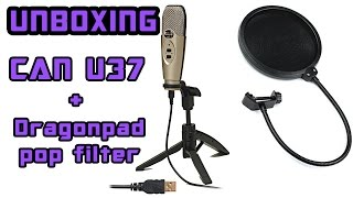 unboxing cad u37 microphone and dragonpad pop filter
