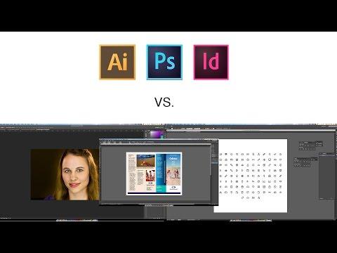 Best Graphic Design | Which one? | Adobe Photoshop vs. Illustrator vs. Indesign