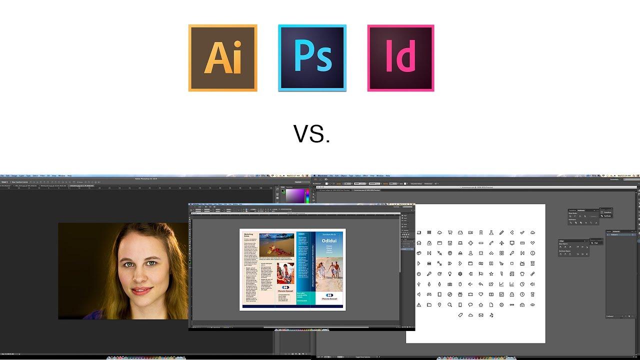 best graphic design which one adobe photoshop vs illustrator