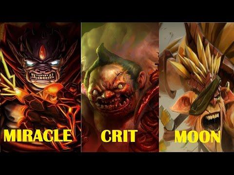 Miracle Lion Silver Edge Crit Pudge Moon Bristleback - Pro Gameplay Dota 2