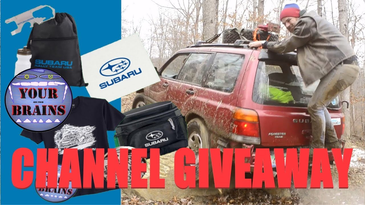 Announcing Our Channel Giveaway Lots Of Cool Subaru Gear And Other Free Stuff
