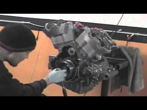 Vrod engine rebuild - YouTube