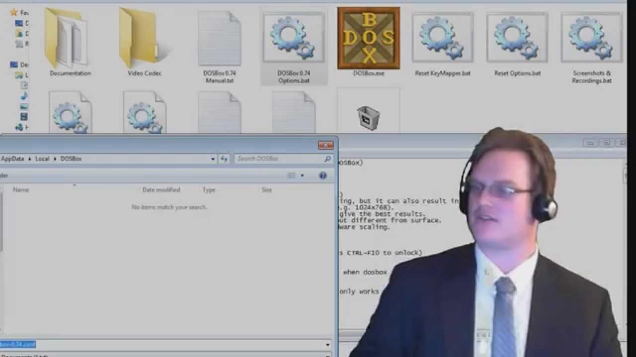 DOSbox runs old DOS software |