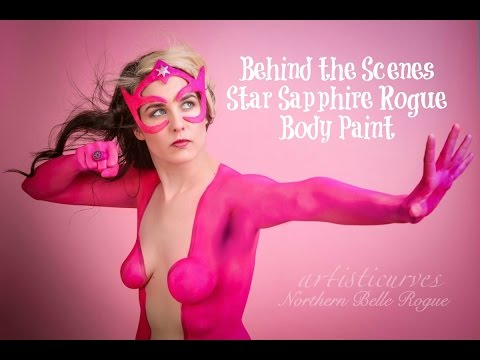 Star Sapphire Body Paint With Artisticurves Northern Belle Rogue