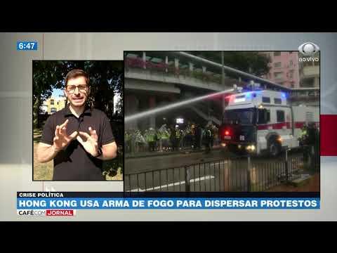 Hong Kong Usa Arma De Fogo Para Dispersar Protestos