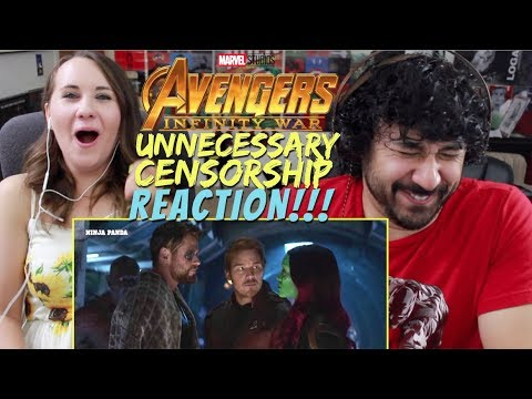 AVENGERS: INFINITY WAR | Unnecessary Censorship | Try Not To Laugh -REACTION!!!