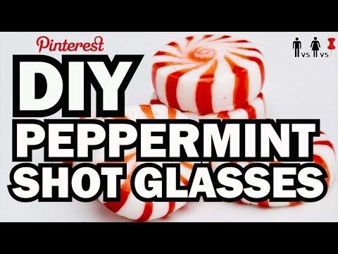 DIY Peppermint Shot Glasses - Man Vs Corinne Vs Pin - Pinterest Test #76