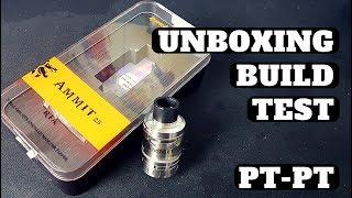 Unboxing Geek Vape Ammit 25 | Unboxing | Build | Set-Up | Review | Teste (Português-PT)