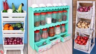 7 Best Space Saving ...DIY Kitchen Organization Idea    Best Out Of Waste Idea 2019