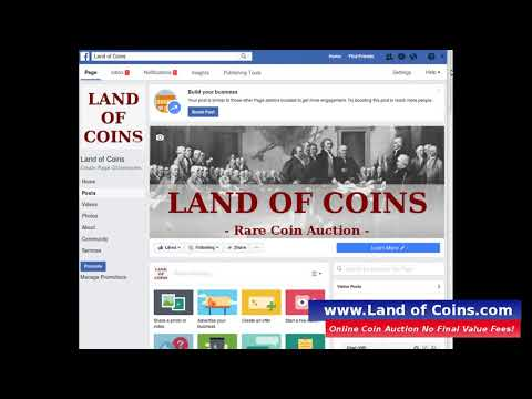 Rare Coin Auctions Social Network Sharing.  Land of Coins